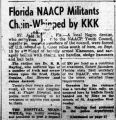 Florida NAACP Militants...