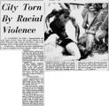 City Torn by Racial Violence